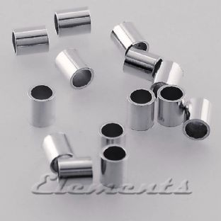 Sterling Silver 3mm X 2mm Tube Crimp Beads